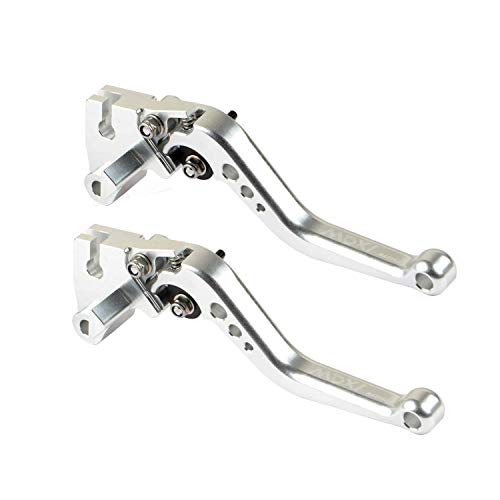 AllExtreme-EXLSM02-Heavy-Duty-Universal-6-Positions-Adjustment-Clutch-Brake-Lever-for-Sports-Bike-Yamaha-Fz-Duke-Full-Silver-Set-of-2-0