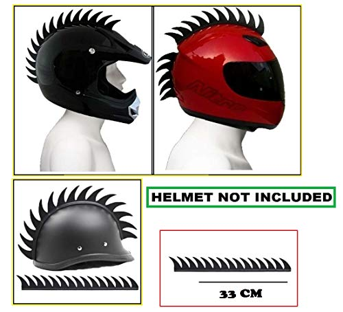 Aow-Attractive-Offer-World-Cuttable-Helmet-Spikes-for-All-Motorcycles-Dirt-Bike-Normal-Helmets-Black-y-63-0
