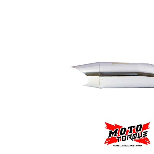 Moto-Torque-Exhaust-For-Royal-Enfield-Shark-Chrome-0-0