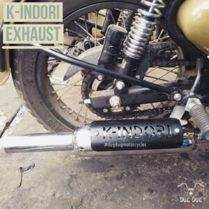 K-Indori Exhaust with baffles for Royal Enfield UCE All Models