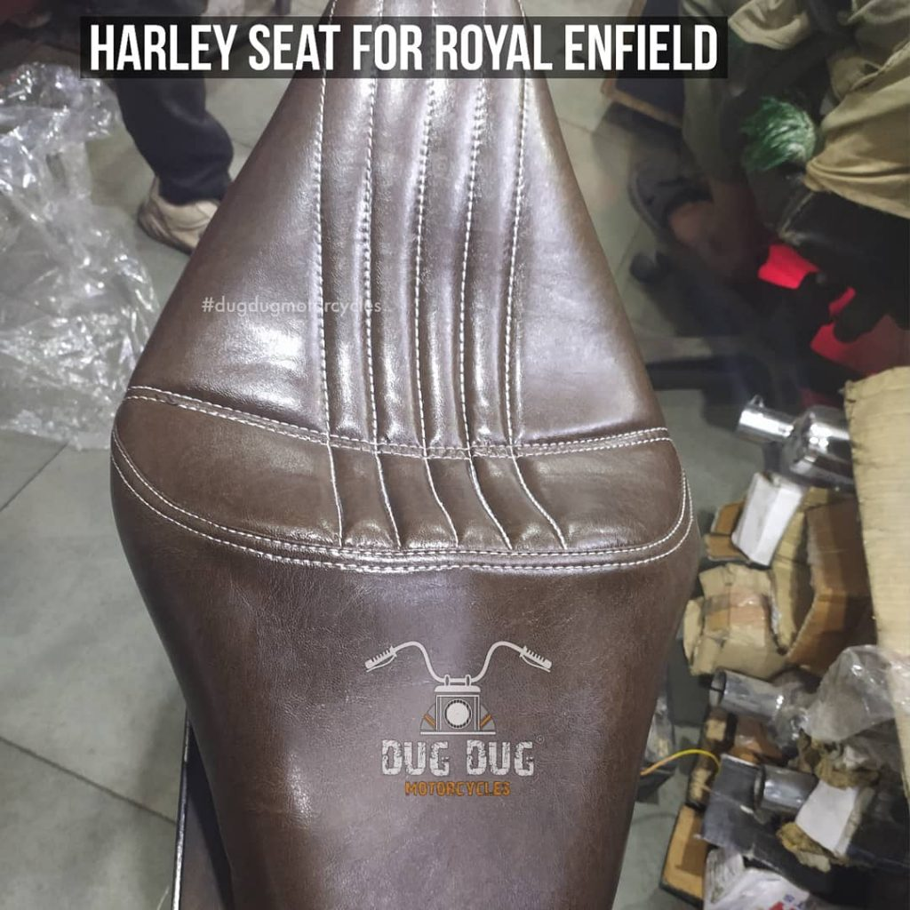 Harley Seat for Royal Enfield - Brown