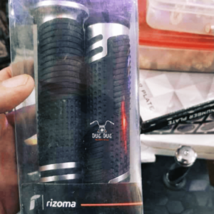 Rizoma Handle Grip for All Motorcycles - Black Silver