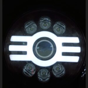 New 7 Inch Full Ring LED Headlight Tri DRL for Royal Enfield