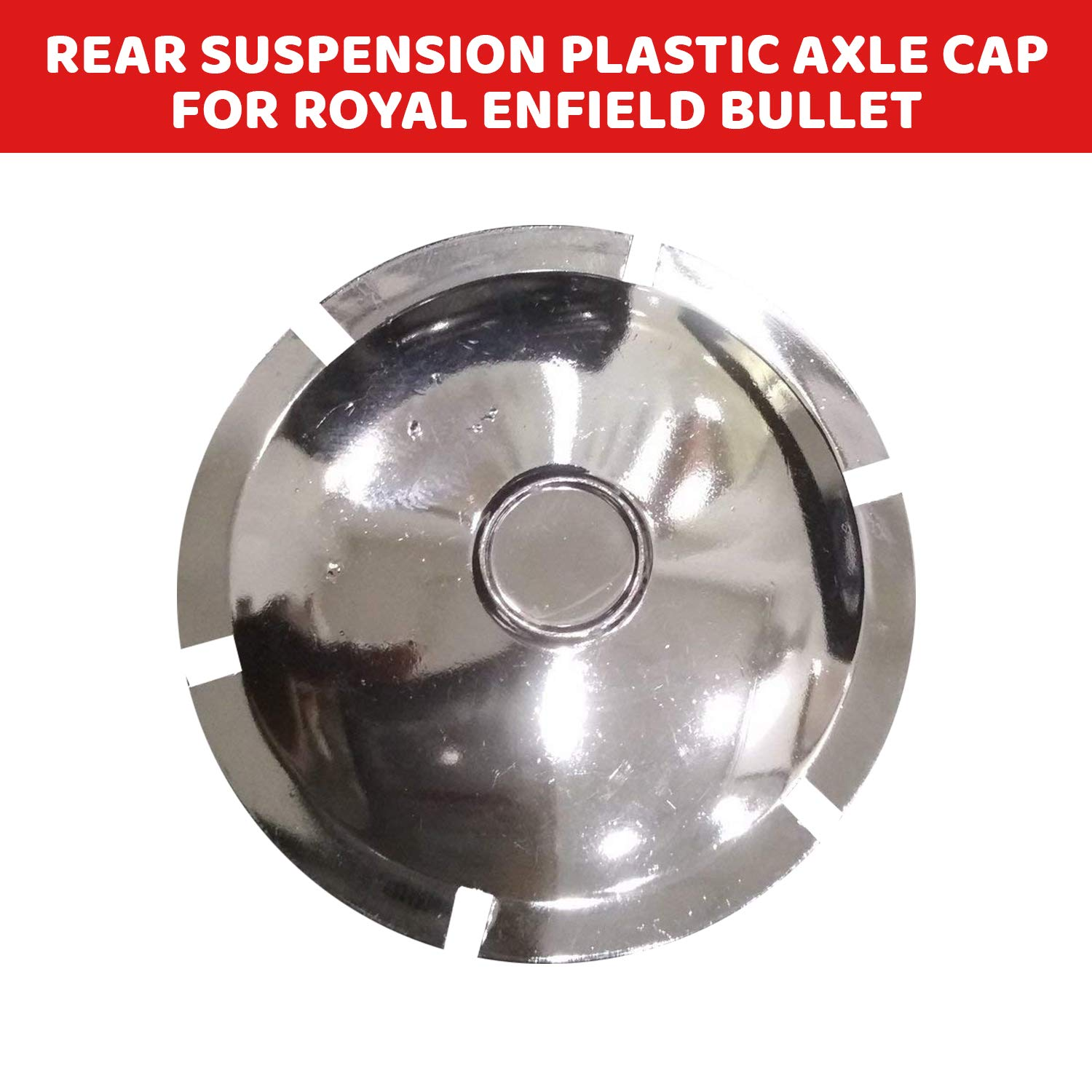 Dug Dug Rear Suspension Plastic Chrome Axle Cap for Royal Enfield Bullet Classic 350 Electra and Standard (1)