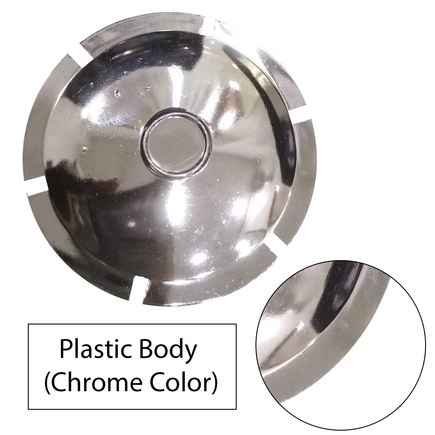 Dug Dug Rear Suspension Plastic Chrome Axle Cap for Royal Enfield Bullet Classic 350 Electra and Standard (3)