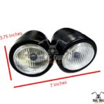 Dual Twin LED Headlights for Royal Enfield Modification Bullet (4)
