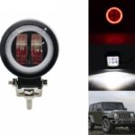 dug dug motorcycles 3 Inch 40W LED Fog Light with LED Round DRL Angel Eye for bikes (2)