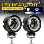 dug dug motorcycles 3 Inch 40W LED Fog Light with LED Round DRL Angel Eye for bikes (32)