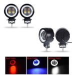 dug dug motorcycles 3 Inch 40W LED Fog Light with LED Round DRL Angel Eye for bikes (33)