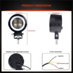 dug dug motorcycles 3 Inch 40W LED Fog Light with LED Round DRL Angel Eye for bikes (34)