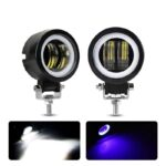 dug dug motorcycles 3 Inch 40W LED Fog Light with LED Round DRL Angel Eye for bikes (37)