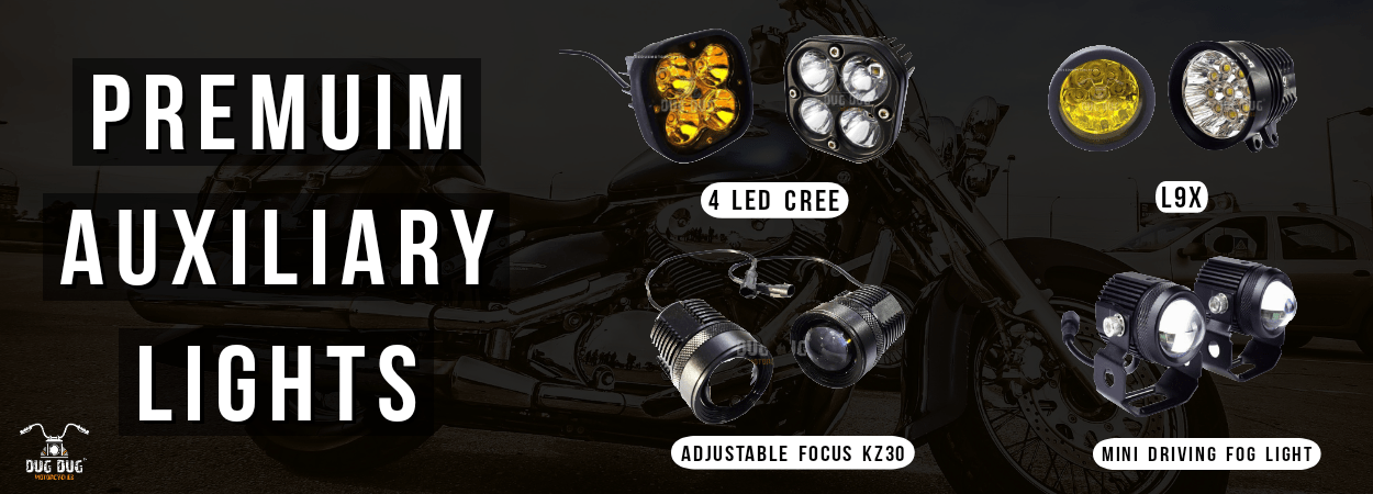premium auxiliary led fog lights for bike dug dug motorcycles